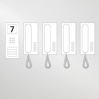 Siedle Set Compact Audio für vier Wohneinheiten