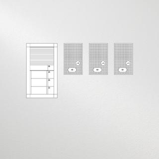 Siedle Set Vario Audio für drei Wohneinheiten