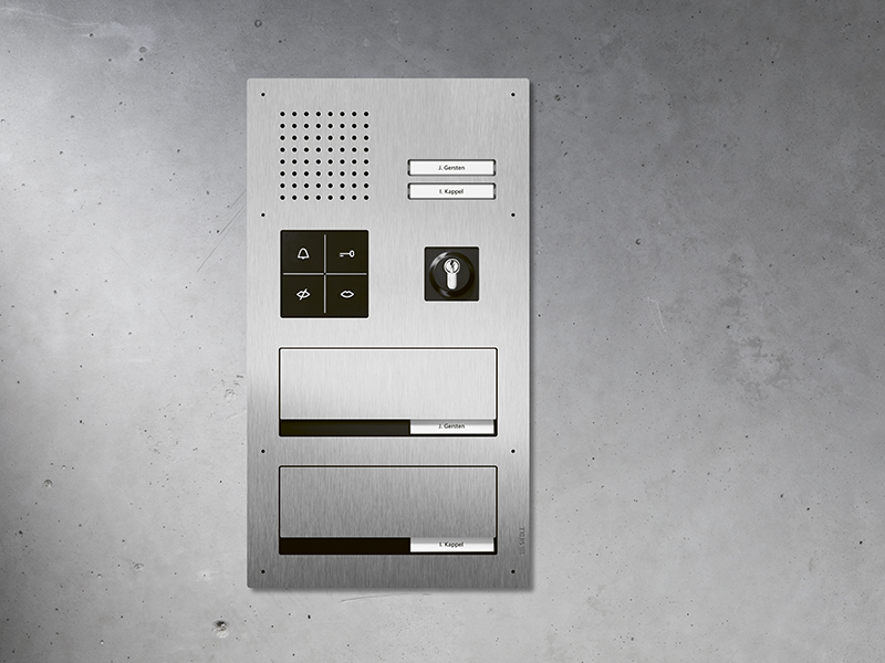 Siedle Briefkasten-Beschriftung
