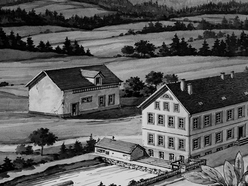 1870: Salomon Siedle II. macht aus dem Hausgewerbe eine industrielle Fertigung und gründet in Furtwangen eine Fabrik.