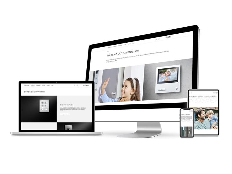 Siedle Neue Website Responsive