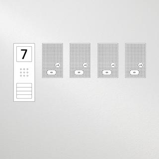 Siedle Set Compact Basic Audio für vier Wohneinheiten