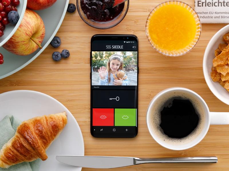 Siedle App Türklingel auf dem Smartphone