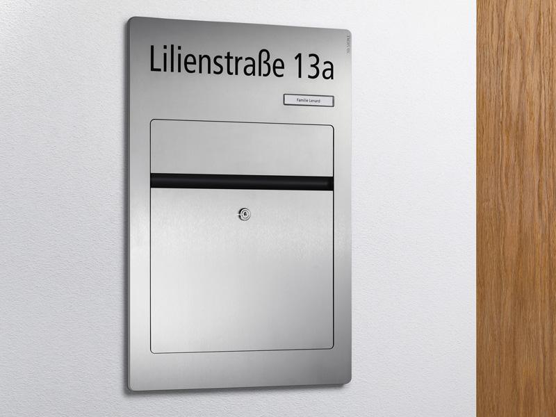 Siedle Briefkasten Unterputz aus Edelstahl