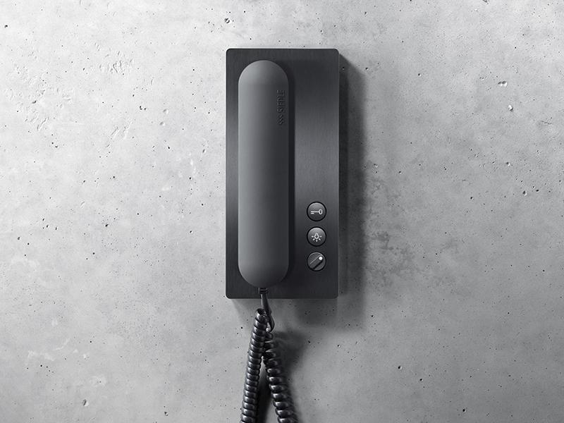 Siedle Haustelefon in PVD Schwarz
