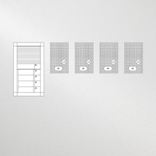 Siedle Set Vario Audio für vier Wohneinheiten