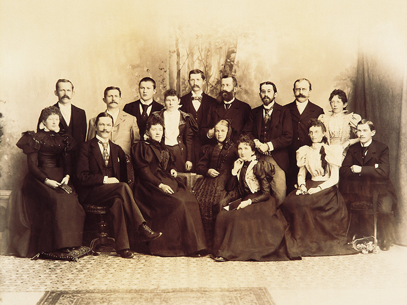 The manufacturing family Siedle, around 1900