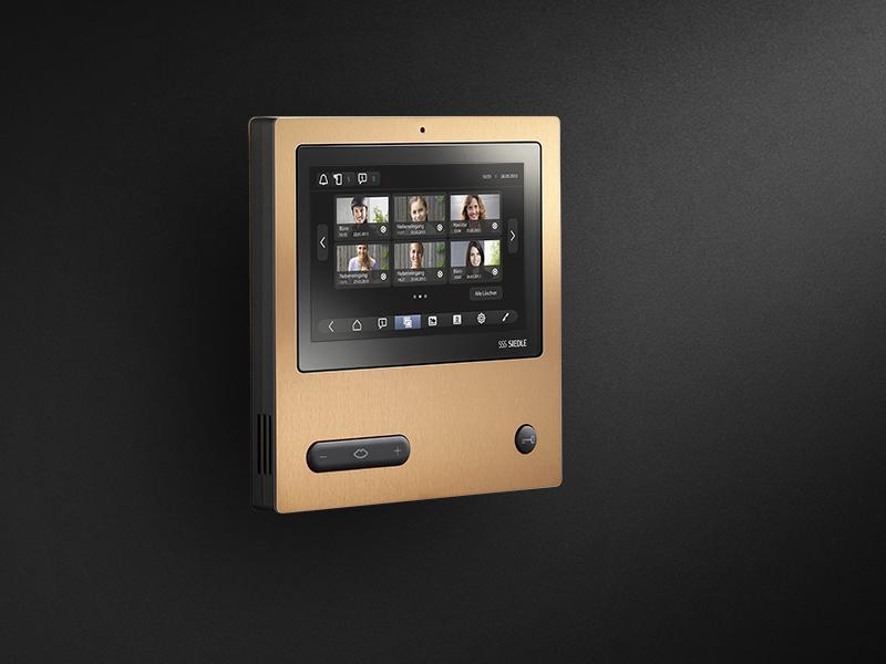Siedle Video Panel PVD copper