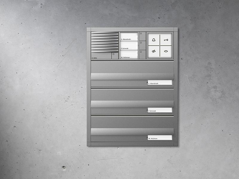 Siedle Briefkasten mit Durchwurf