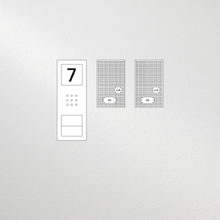 Siedle Set Compact Basic Audio für zwei Wohneinheiten