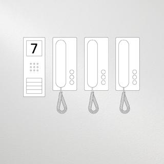 Siedle Compact Set Audio für drei Wohneinheiten