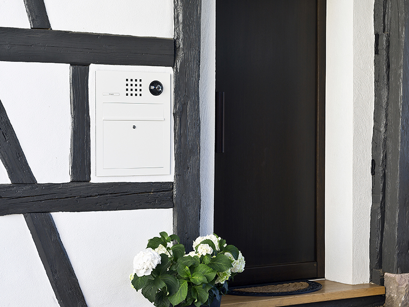 Siedle Briefkasten Unterputz Fassadenintegration