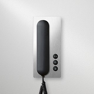 Siedle standard bus in-house telephone brushed stainless steel