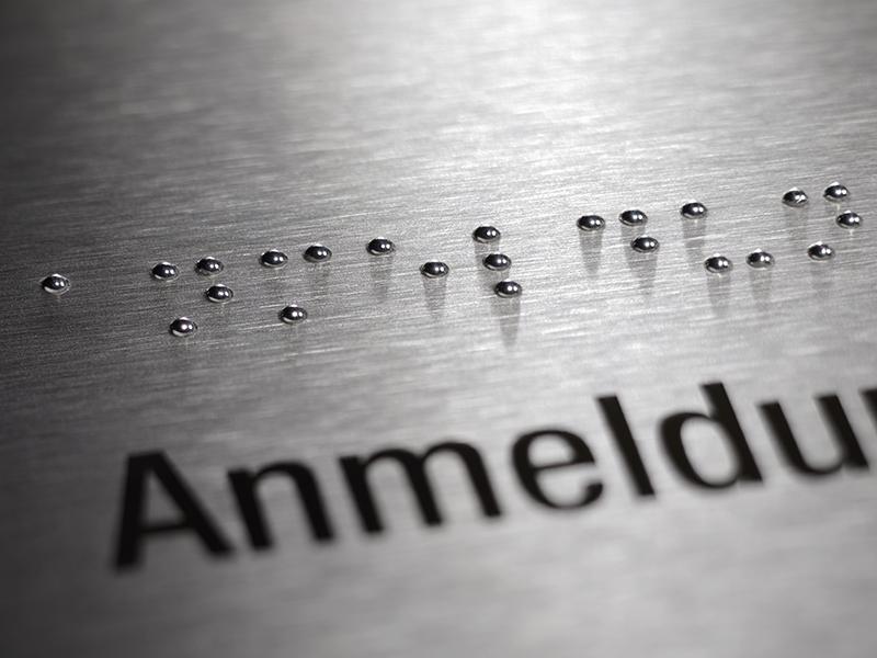 Siedle Barrierefreiheit Brailletaste