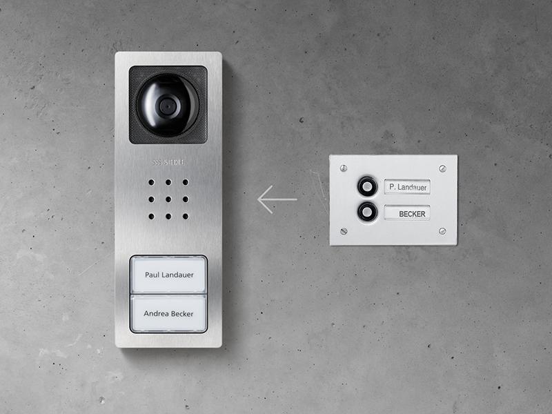 Siedle Compact Video alte Klingel zu Sprechanlage