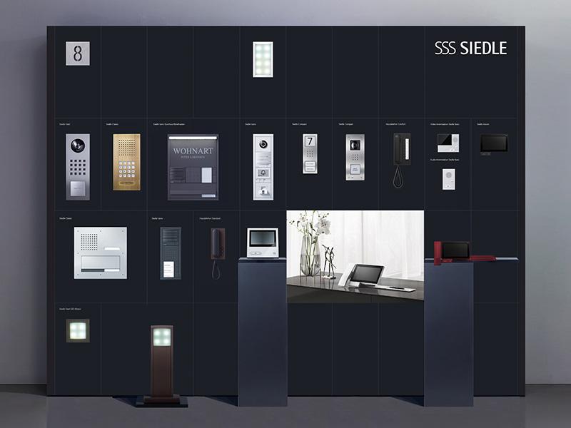 Siedle Studio-Partner Ausstellungswand