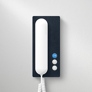 Siedle in-house telephone, leather