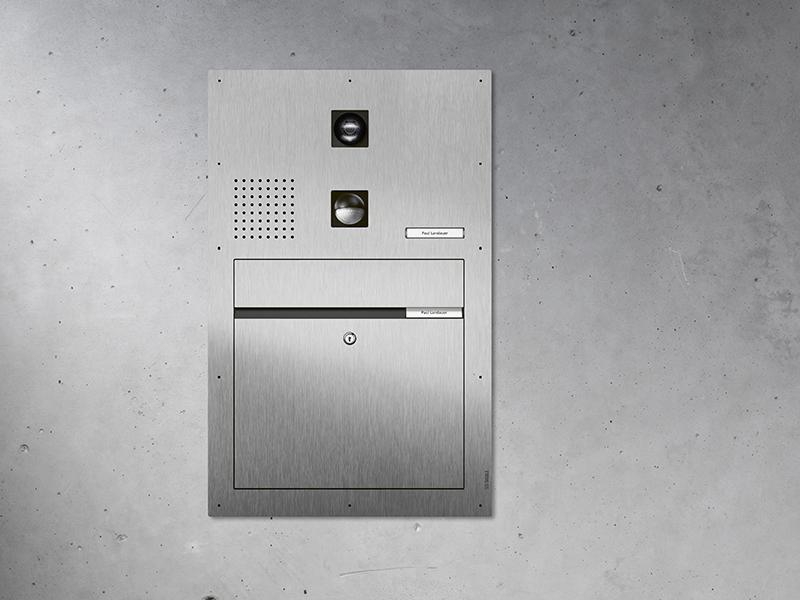 Siedle Briefkasten mit frontseitiger Entnahme