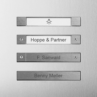 Siedle Steel Beschriftung Tastatur-Varianten