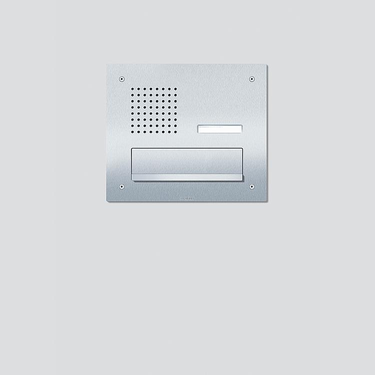 CL 411 BD2A 01 R Siedle Classic Durchwurfbriefkasten-Front Audio