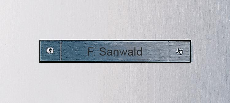 Call button, laser lettering, visible fixing Siedle Steel