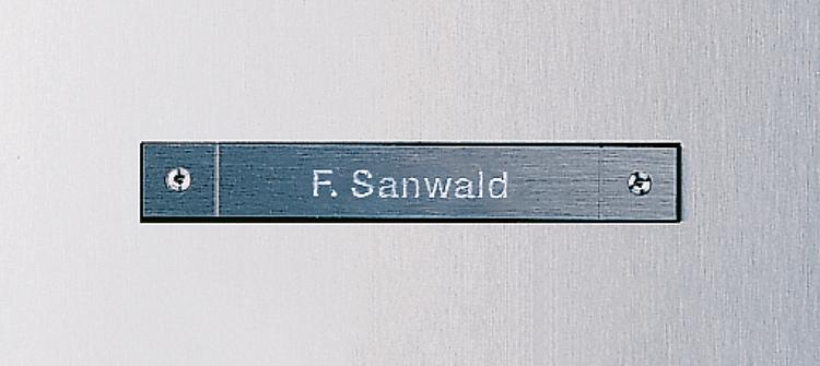 Siedle Steel Call button, engraved, visible fixing