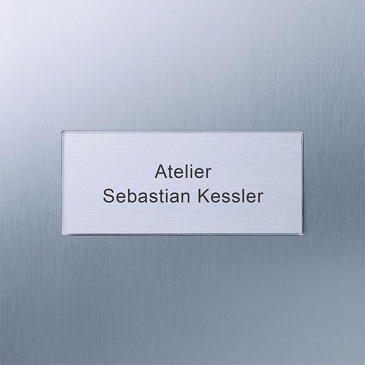 Siedle Steel Double large-format button, laser lettering