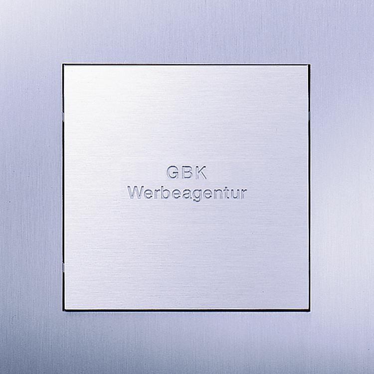 Siedle Steel Quadruple large-format button, engraved