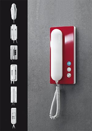 SSS Siedle Interphone maison BTC BTS 750-0 Maison Combiné Téléphonique Blanc